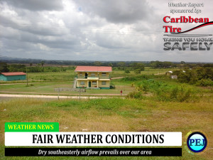 Fair weather conditions in the forecast