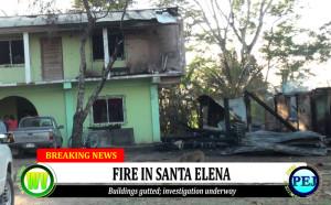 Fire in Santa Elena town