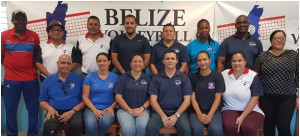 New executive, Belize Volleyball Association.