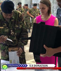 U.S. donation to Belize